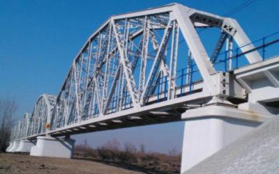 Remont konstrukcji stalowej mostu kolejowego w Sandomierzu