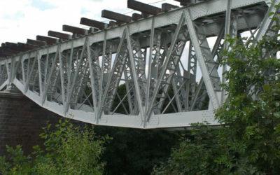 Zabezpieczenie antykorozyjne mostu kolejowego w Żukowie