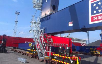 Zabezpieczenie antykorozyjne elementów dźwigów Rail Mounted Gantry Cranes