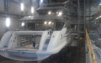 Zabezpieczenie antykorozyjne luksusowego jachtu TN17350