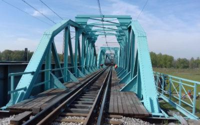 Remont ufortyfikowanego mostu kolejowego w Ścinawie